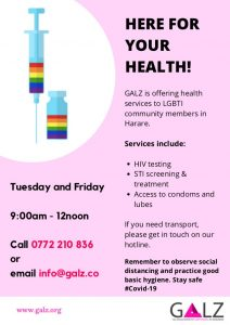 Flyer for GALZ mini clinic
